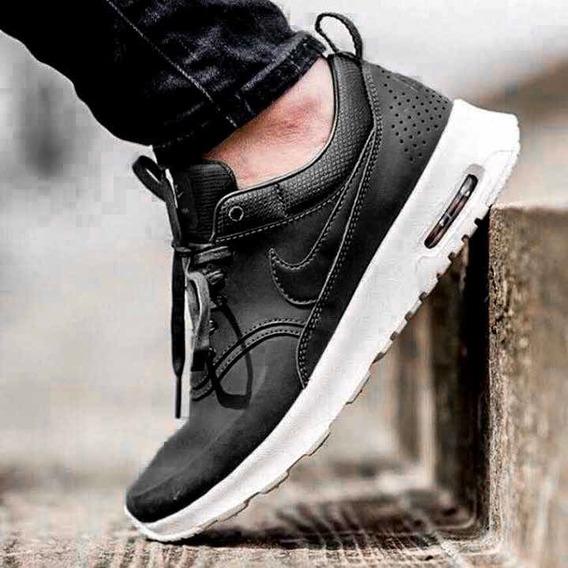 Tênis Nike Air Max Thea Couro Preto