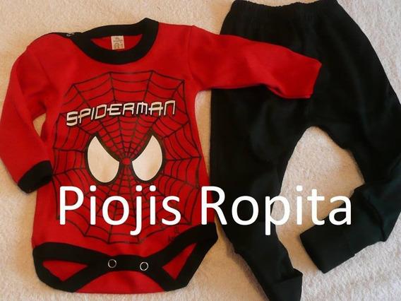 Set Bebe Disfraz Spiderman Hombre Araña Conjunt Body Pantalo
