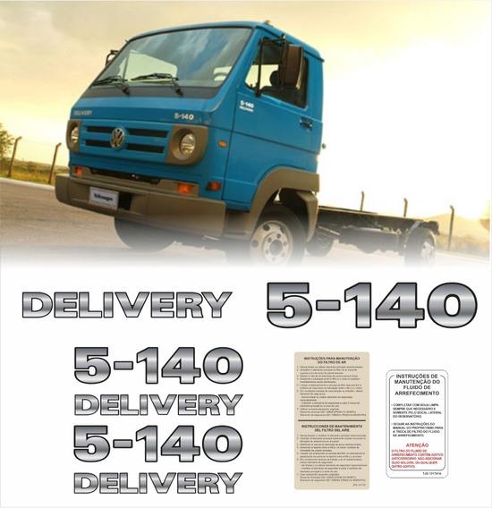 Kit Adesivo Emblema Resinado Caminhão Volks Delivery 5-140
