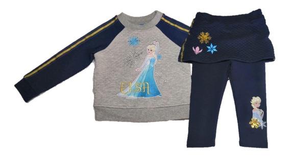 Conjunto Para Niña (2pz) Sudadera Y Pants Frozen Original T2
