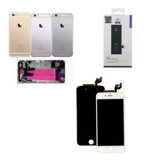 Carcaça Completa + Display Frontal + Bateria iPhone 6s