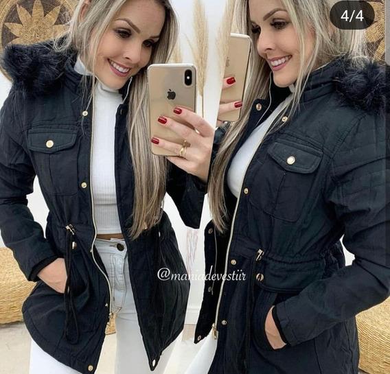 Parka Jaqueta Sobretudo Casaco Fem Tendência Inverno 2019