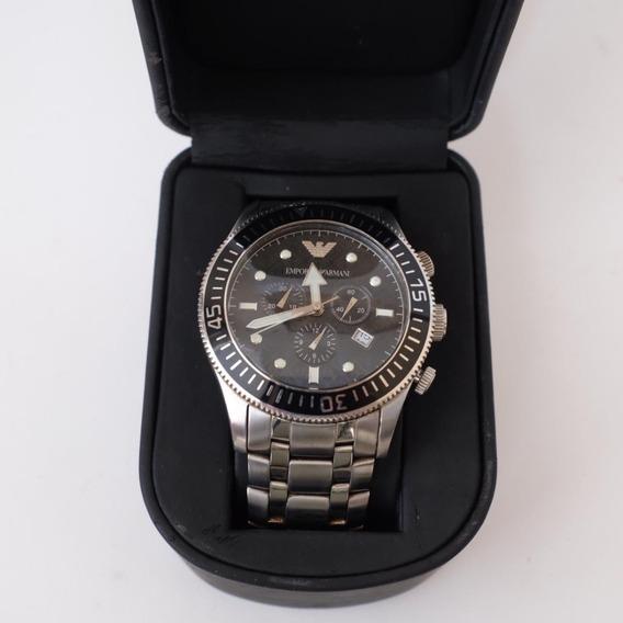 Relógio De Pulso Armani Original 0553 Pulseira Aço
