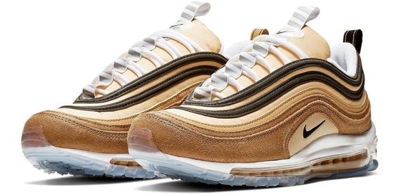 Tênis Nike Air Max 97 Ale Brown Black Elemental Gold.