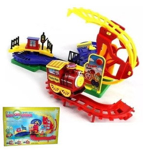 Trenzinho Brinquedo Locomotiva Trem Com Luzes Som Fênix