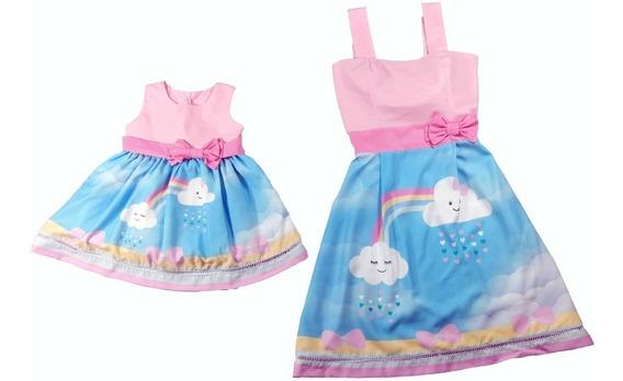 Sapatilha Vest. Mãe Filha Chuva De Amor 06 + G + 1 Laço