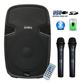 Bafle Potenciado 15 800w Bluetooth Usb Sd Radio Fm Y Bateria