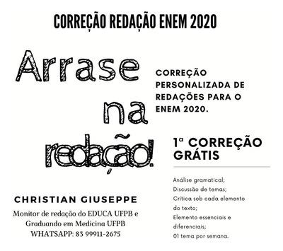 Correção De Redação Para O Enem 2020
