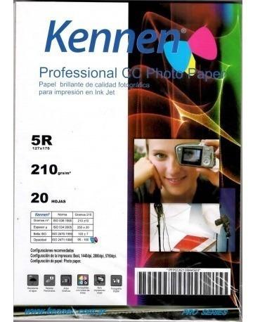 Papel Fotografico Profesional 13x18 210g Cc Dorso Resinado