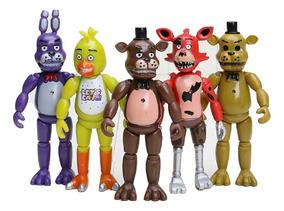 5 Bonecos Five Night Freddy Fnaf Brinquedo Infantil Game Ps4