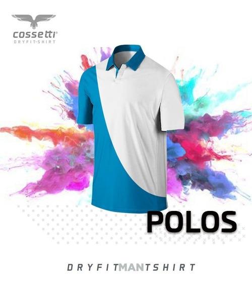 Playera Tipo Polo Cossetti Manga Corta Dry Fit Duo Fit