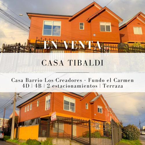 Imagen 1 de 14 de Casa Tibaldi, Ubicada En Tranquilo Sector Residencial