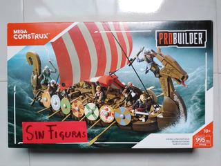 Barco Vikingo Pro Builder Mega Construx, Sin Figuras