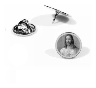 Pin Botton , Broche,em Aço,personalizado Sagrado C De Jesus