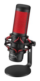 Microfone Hyperx Quadcast Antivibração Led - Hx-micqc-bk