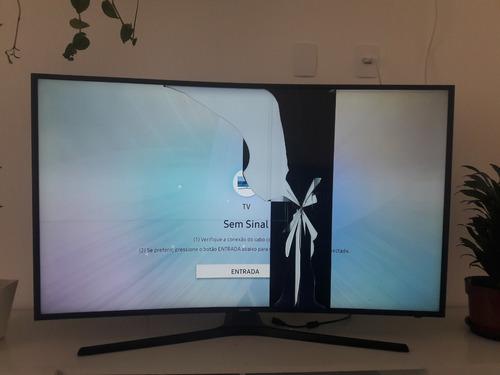 Imagem 1 de 2 de Tv Samsung 49  Un49mu6300g - Display Danificado