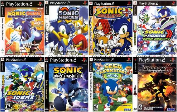 Sonic Ps2 Coleção (8 Dvds) Patch - Leve 8 Pague 6 Me