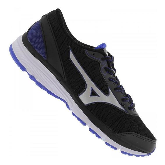 Tênis Running Mizuno Masculino Brave 3 4141621 Preto E Azul