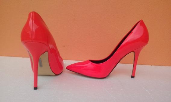 Zapatos Altos Boutique 9 Coral Neón Talla 37 Nuevos.