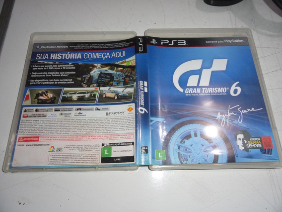 Gran Turismo 6 Ps3 Midia Fisica Original Brasil C01