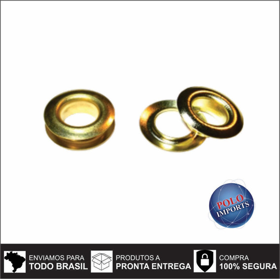 Ilhos 45 Ferro Dourado + Arruelas C/1000 Unid