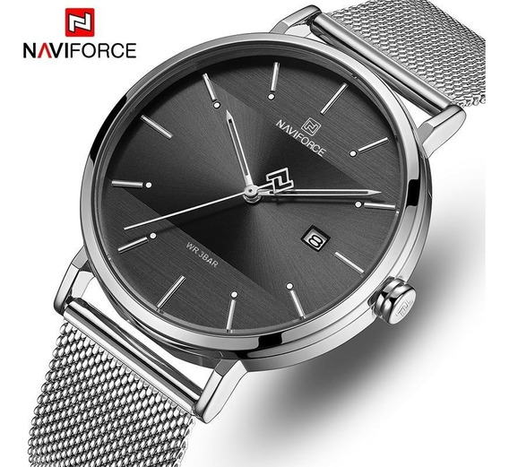 Relógio De Luxo Masculino Naviforce Aço Inox 2020