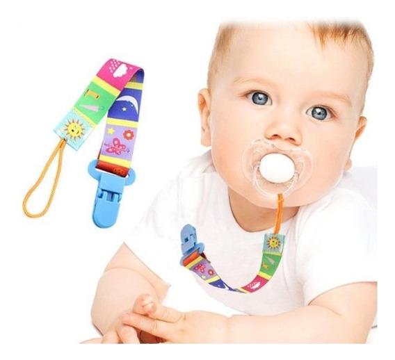 Prendedor De Chupeta Para Bebês Estampado Clip Kit 3 Unid
