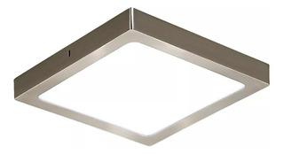 Panel Led 24w Plafon Cuadrado 30x30 Acero Platil Luz Desing