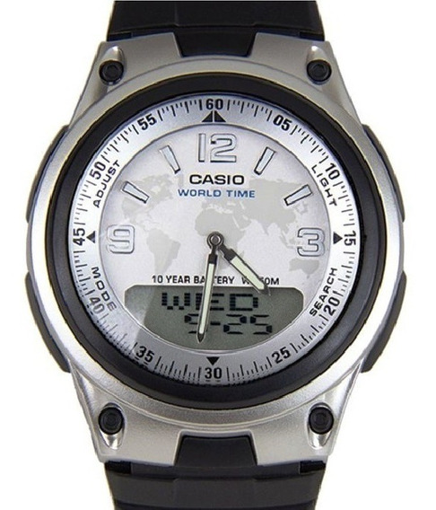 Relógio Casio Anadigi Masculino World Time Aw-80-7a2vdf