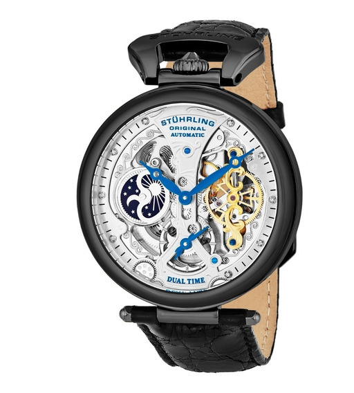 Reloj Hombre Stuhrling Automatico Skeleton Emperor 33f52