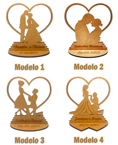 220x Lembrancinha Casamento Lbc-24 Modelos - Mdf Crú 10cm