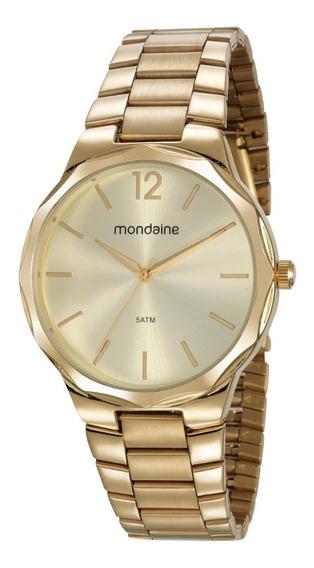 Relógio Mondaine Feminino Analógico Dourado Barato Original