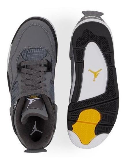 Tenis Air Jordan 4 Retro Gris, Originales,nuevos En Caja