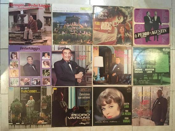 Disco Lp Acetato Pedro Vargas Lote De 12 Albumes