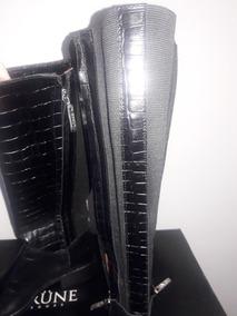 Botas Cuero Negro Caña Alta Prune Nº 36 Nuevas. Envio Gratis