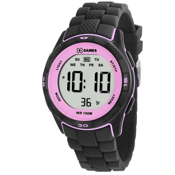 Relógio Esportivo Feminino X-games Xmppd353 Cor Preta / Rosa