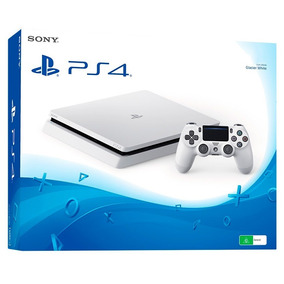 Ps4 Playstation Slim 500gb Hdr Branco Bivolt + Nota Fiscal