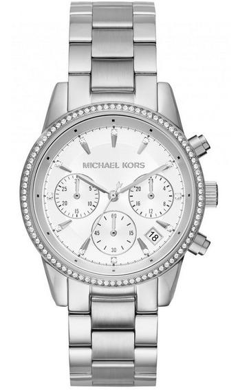 Relógio Michael Kors Feminino Cronógrafo Mk6428/1kn