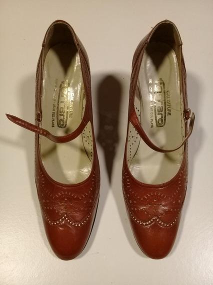 Liquido Zapatos Vintage De Cuero