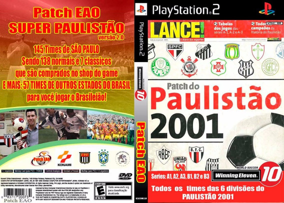 Winning Eleven Paulistão 2001 - Playstation 2 Futebol Patch