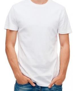 Camiseta De Algodón Blanca Redondo Publicitaria Campañas