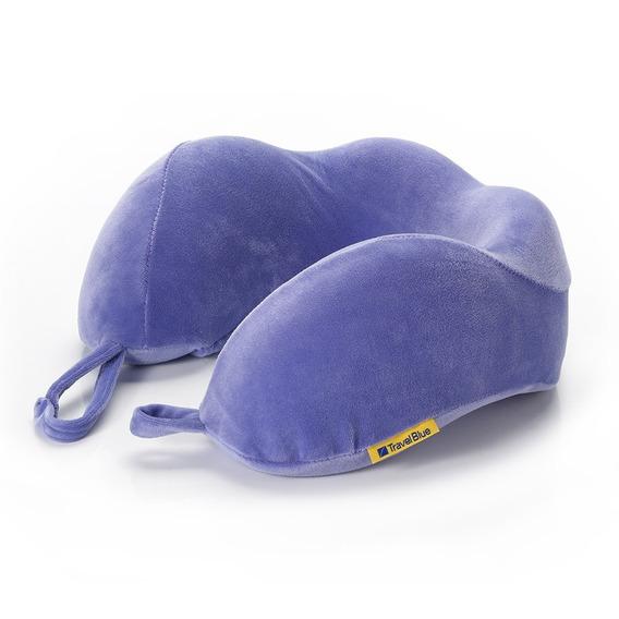 Almohada De Viaje Inteligente Pack X2 Travel Blue Tb212