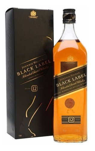 Whisky Johnny Walker Black Jw Etiqueta Negra Johny 1 Litro