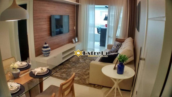 Apartamento Com 2 Dormitórios À Venda, 86 M² Por R$ 516.465 - Centro - São Vicente/sp - Ap9508