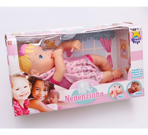 Boneca Nenenzinha Baby- Divertoys Oferta