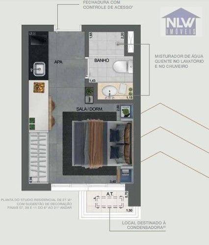Imagem 1 de 9 de Studio À Venda, 21 M² Por R$ 284.656,00 - Paraíso - São Paulo/sp - St0227