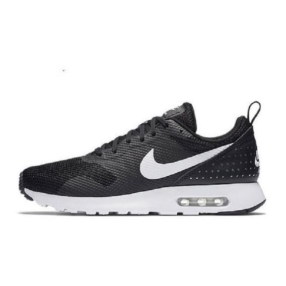 Tenis Nike Air Max Tavas Negro Blanco Tinto Casual Thea Moda