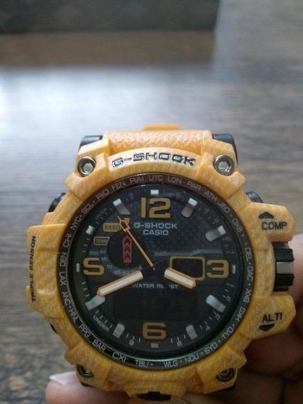 Relógio Casio G-shock Amarelo Jeans.
