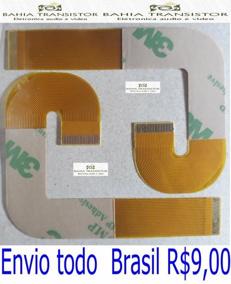Cabo Flat J Leitor Playstation 2 Slim 90xx Kit Com 2 Peças