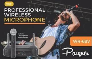 Microfono Inalambrico Profesional Vhf Parquer